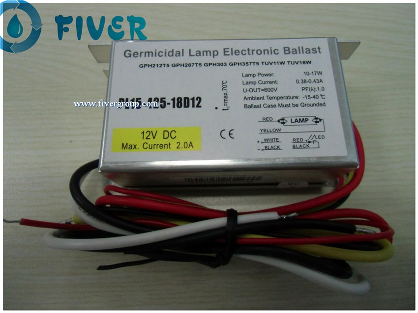 12V DC Power Supply UV Ballast for 15W